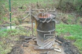 自制简易木炭干馏炉